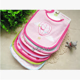 Cotton Baby Bibs Embroidered Saliva Towels 7pcs/lot