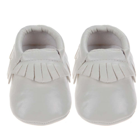 PU Leather Newborn Unisex Shoes First Walkers Baby Moccasins 0-18 Months - 15 Colors - Periwinkle Online