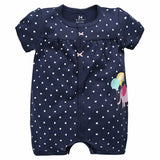Summer Baby Rompers Short Sleeve Set born Baby Clothes Infant Jumpsuits * Maguayeshi Baby Clothes - Periwinkle Online