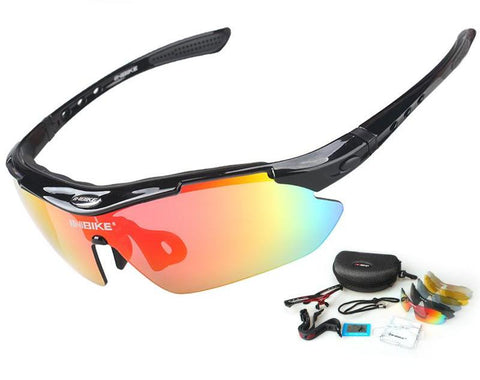 UV Proof Polarized Cycling Glasses 5 Lens 3 Colors Frame