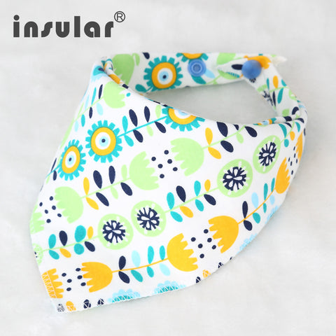 100% Cotton born Waterproof Double Sided Baby Bib and Scarf * Insular Babies - Periwinkle Online
