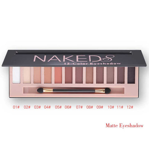 Professional Maquiagem Eyeshadow 12 Colors Naked Pallette With Brush Kit - Periwinkle Online