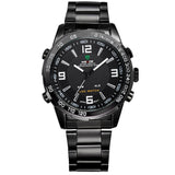 Weide Full Steel Watches Men's Quartz LED Digital Military Watch for Men * Weide Watches - Periwinkle Online