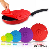 Set of 5 silicone Microwave Cooking pot pan lid Cover * Walfos Cooking Pot Lid - Periwinkle Online