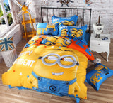CARA CARLE 4pcs Minions Duvet Cover Bed Sheet Comforter Cara Carle AliExpress - Periwinkle Online