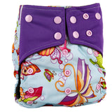 1PC Reusable Waterproof Bamboo Charcoal One Size Pocket Cloth Diaper, Double Gussets,Color Snap Simfamily AliExpress - Periwinkle Online