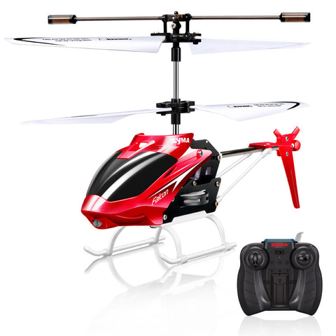 Syma Mini Indoor Aluminum RC Helicopter with Light Built in Gyroscope Radio Control Drone