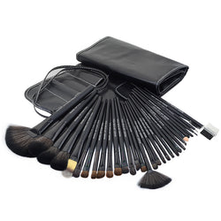 32pcs black Professional makeup brushes set cosmetic brush kit - Periwinkle Online