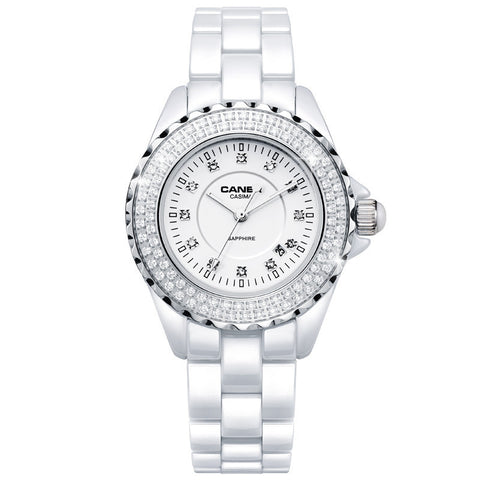 Luxury WoMen's Bracelet Watches dazzle beauty space ceramic white #6702 * Casima Watches - Periwinkle Online