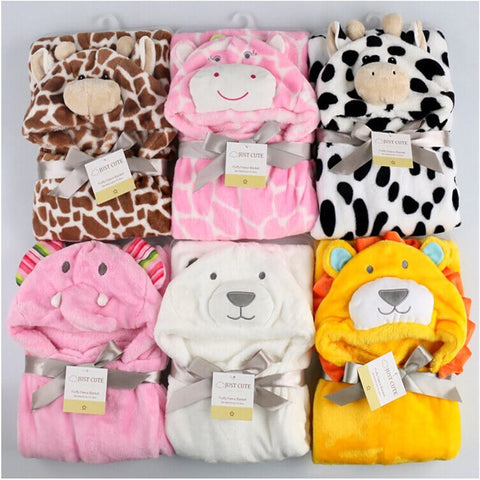Cottons Hooded Animal Baby Bathrobe High Quality 7 Patterns Available * Others Baby Bathrobe - Periwinkle Online