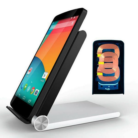 Qi Wireless Charger 3 Coils Folding Stand Cradle For Samsung S6 Edge Plus Replacement WCD-100