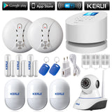 DIY Wifi GSM PSTN PHONE line home sucerity alarm system with IOS and Android support * Kerui Home Security - Periwinkle Online
