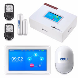New 7 Inch TFT Color Display flat WIFI+ GSM Alarm System KR-K7 - Periwinkle Online