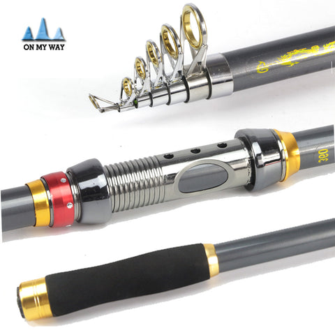 High Performance Carbon Fiber Telescopic Fishing Rod 2.1/2.4/2.7/3.0/3.6m