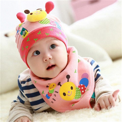 Free Shipping | Autumn baby boys and girls fall and winter baby hat children cotton cap MiniHello - iWynx