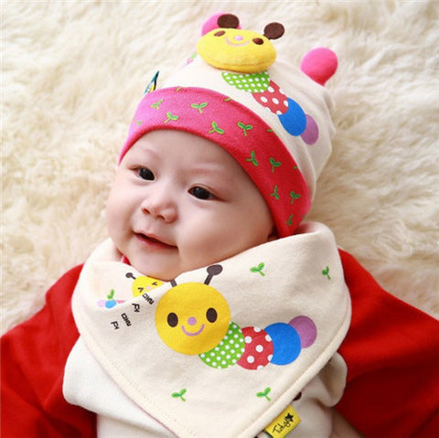 Autumn baby boys and girls fall and winter baby hat children cotton cap MiniHello AliExpress - Periwinkle Online