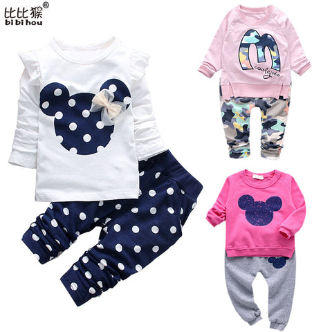 Unisex Baby Suit Spring Tops+ Pants 2pcs