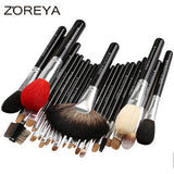 ZOREYA Mink Hair 26pcs Makeup Brushes Set With Cosmetic Bag - Periwinkle Online