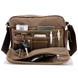 High Quality Multi-function Casual Messenger Canvas Bag for Men * JINQIAOER Messenger Bags - Periwinkle Online