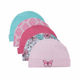 Baby Hats Pink/Blue Cartoon Pattern Baby Hats & Caps for born 5pcs/lot * Mother Nest Baby Cap - Periwinkle Online