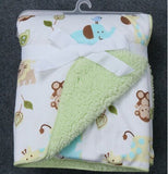 Thicken double layer envelope Swaddle Stroller Wrap for newborn