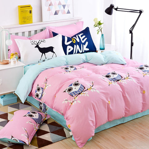 Llinen kids duvet cover sets twin full queen king size * YINGMAN Bedsheet - Periwinkle Online