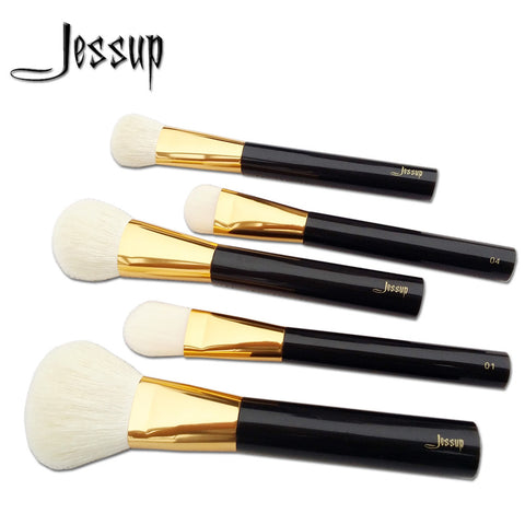 Jessup Beauty Professional Makeup Brushes Set - 5pcs Coffe