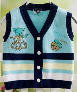 2016 Knitted Baby Vest for Boys - Periwinkle Online