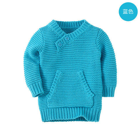 Cotton knitted cardigan long sleeves unisex sweater V-Tree AliExpress - Periwinkle Online