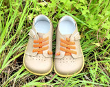 Genuine leather children sneakers