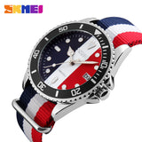 SKMEI Men And Women Casual Lover's Watch Nylon Strap 30M Waterproof 9133 * Skmei Watches - Periwinkle Online