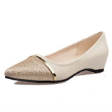 Spring Autumn Pointed Toe Slip-On Flat Comfortable Single Casual Flats Size 36-39