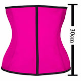 3 Layers Steel Bone Waist Trainer Latex Shapewear Corset Women Waist Cincher Slimming Belt Hot Body Shaper Belt Mukatu - Periwinkle Online