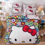 CARA CARLE Hello kitty 4pcs Set Duvet Cover Bed Sheet Pillowcase Comforter Cara Carle AliExpress - Periwinkle Online