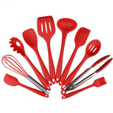 10 Pieces FDA Silicone Cooking Utensil Set