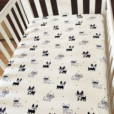 Thickened Crib Bed Sheet 100% Cotton