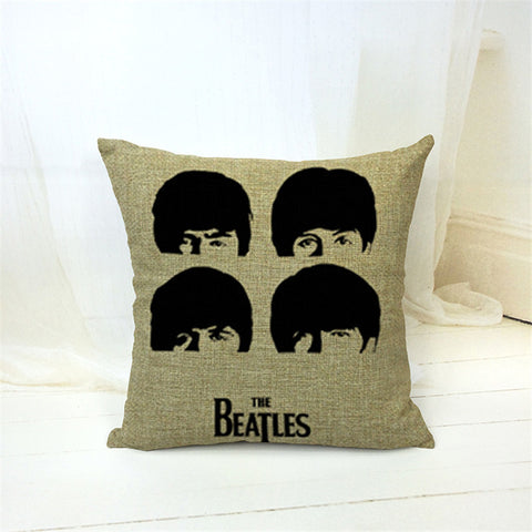 New Arrival Classics Style Beatles Printed Fashion Home Decorative Throw Pillows