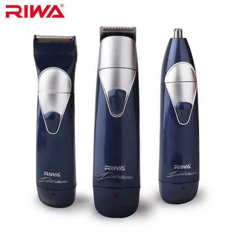 RIWA 3in1 Hair Trimmer Kit (Hair Clipper+Nose Trimmer+Electric Shaver) RE-550A