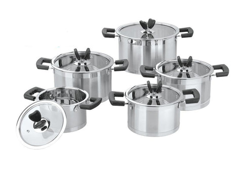 Stainless Steel Induction Cookware Set Pots Set 18/10 * other Cook Ware - Periwinkle Online