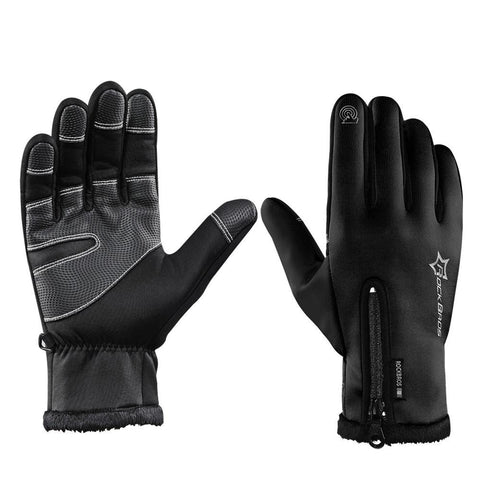 ROCKBROS Cycling Gloves Thermal Windproof Warm Fleece Gloves