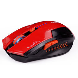AZZOR Rechargeable Wireless Mouse Slient Button Gaming 2400DPI Built-in Battery with Charging Cable