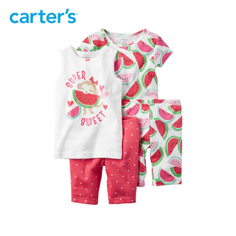 Carter's 4pcs baby children kids Snug Fit Cotton PJs 331G084/351G079