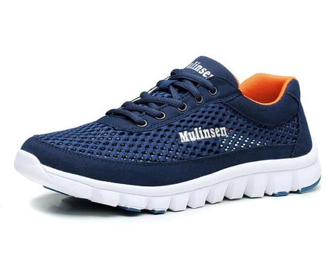 Genuine Leather Sport Running Shoes for Men outdoor sport 350 Shoes * Mulinsen Running Shoes - Periwinkle Online