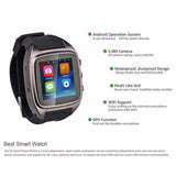 X01 MTK 6572 Dual core sim card Android 4.4 Relogio Bluetooth 3G WIFI Camera GPS Smartwatch