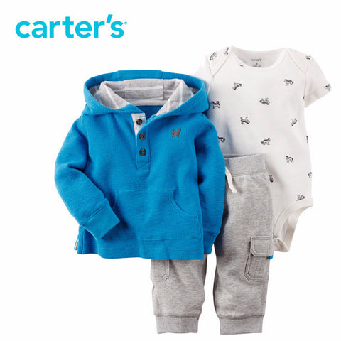 Carter's 3pcs baby children Cotton Cardigan Set 127G054 Carter AliExpress - Periwinkle Online