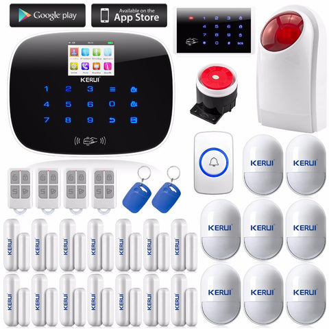 IOS Android APP Wireless GSM Autodial Text Home / Office Security Burglar Intruder Alarm * Kerui Home Security - Periwinkle Online
