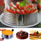 Adjustable Stainless Steel Circle Cake Mold Bake Layer Slicing Kit Pastry Baking Tools Fheal AliExpress - Periwinkle Online
