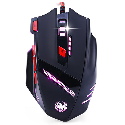ZELOTES T-90 8 Keys 9200DPI Wired USB Optical Gaming Game Mouse 13 Backlight Modes