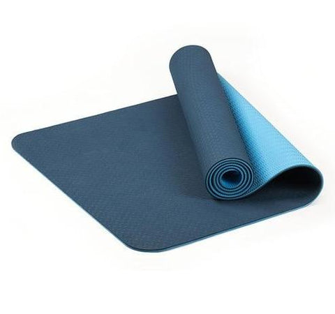 TPE Thick Non-slip Gym Fitness Exercise Yoga Mat - Blue
