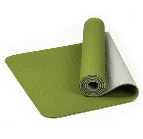 TPE Thick Non-slip Gym Fitness Exercise Yoga Mat - Green